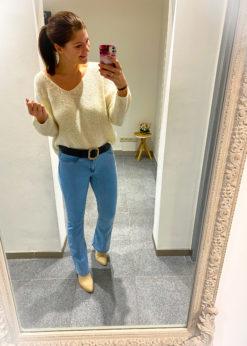 Flared jeans- lichtblauw-high waist