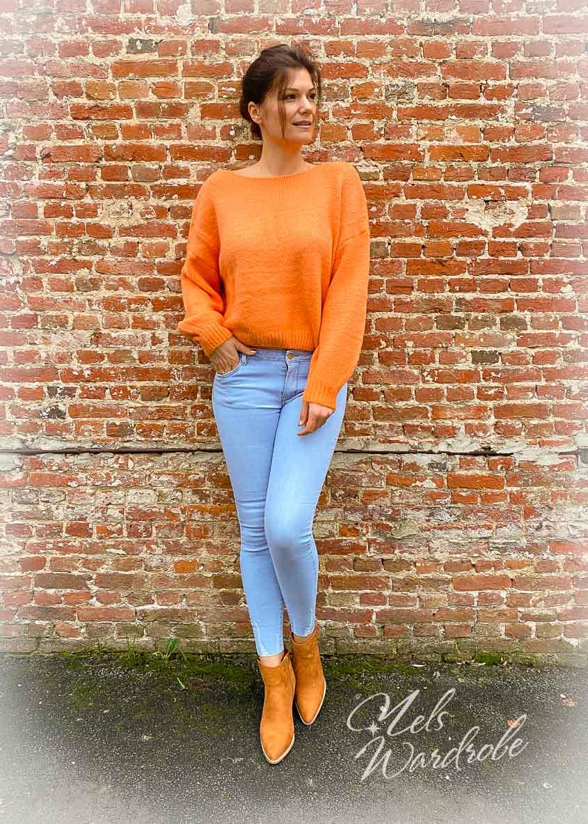 Basic trui die bestaat in 3 kleuren; De pull is onesize