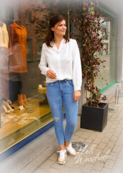 Ripped jeans- mid waist-lichtblauwe jeans