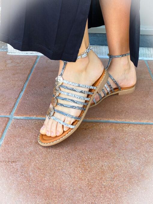 Sandaal met snake print