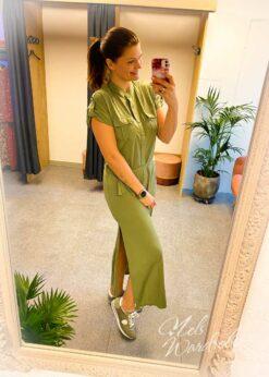 Hemdjurk model, basic dress met korte mouw