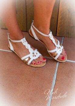 Witte sandaal - sandaal fijne riempjes