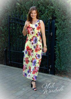 Maxi dress - flowers - recht model