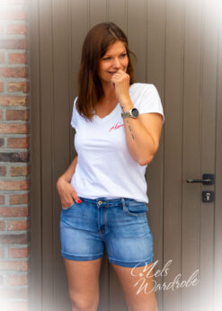 Short - basic jeans - hoge taille