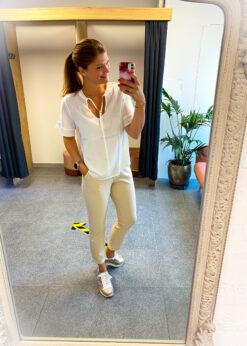 Witte blouse - korte mouw - ruches