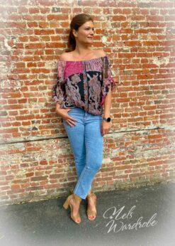 Multicolor blouse - print - 3/4mouw