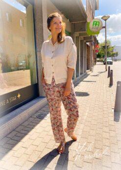 linnen blouse - beige blouse