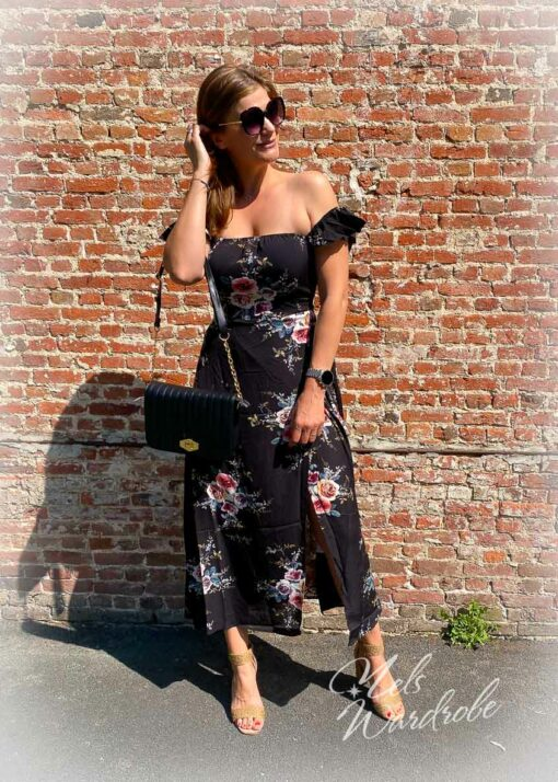 Dress - flowers - off shoulder