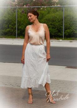 Maxi skirt - wit - kant