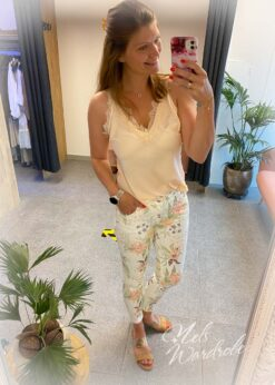 Jeans - flowers - witte jeans