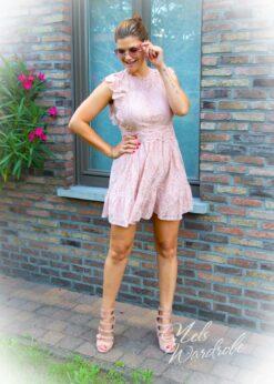 Dress - pink - lace