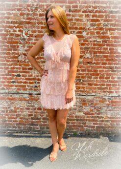 Roze jurk - lace
