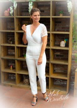 jumpsuit white lace