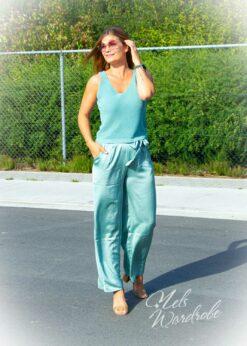 Satijnen broek - los model- high waist