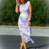 Lange jurk - tie dye