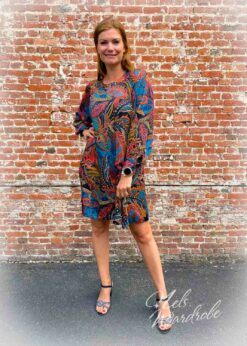 Multicolor jurk - A model -