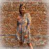 Aztec dress - color - lange mouw