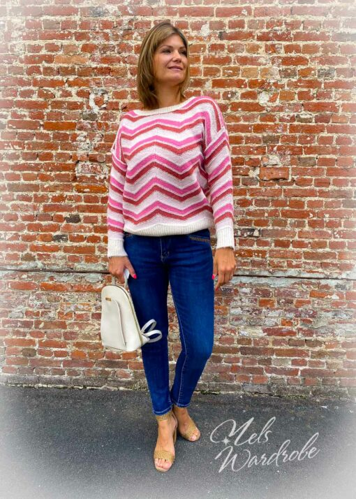 donkerblauwe jeans - high waist