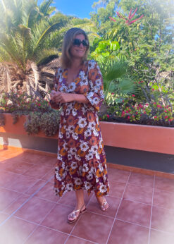 maxi jurk bloemenprint