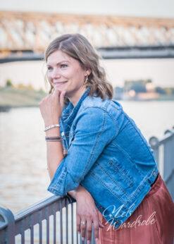 denim - light blue jeansvest