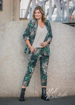 blazer jungle print - groen - leopard