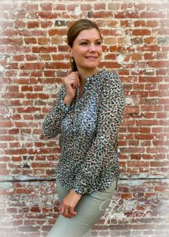 hemd leopard - gold dots