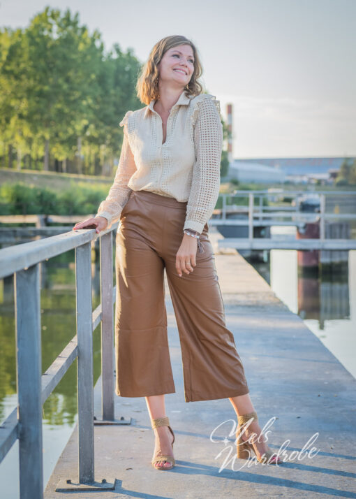 Flare leather - brown leather pants
