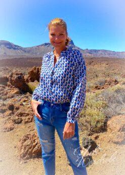 blouse vintage - pink - blue