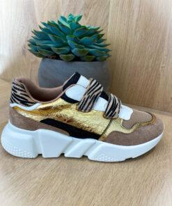 sneaker gold leopard