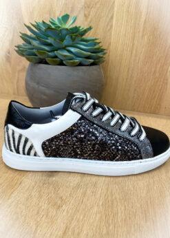 Zwarte sneaker - zebra