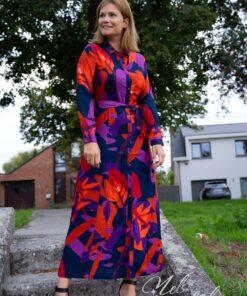 Lange jurk print