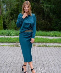 Satin look skirt