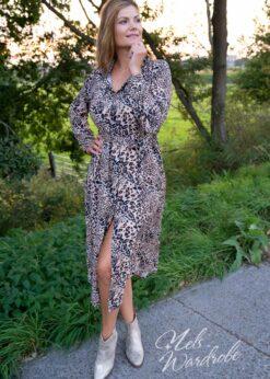 Beige hemdjurk - leopard print