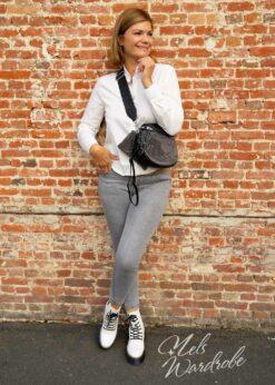 Zwarte tas - bodybag - pailletten