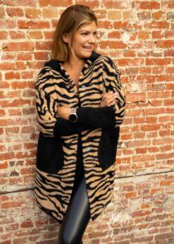 Vest zebra - camel