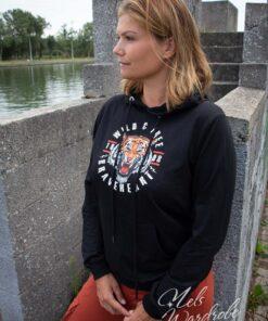 Zwarte hoodie met kap - lion