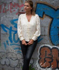 Beige blouse - lace - Vmodel