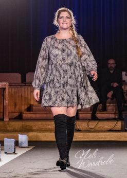 Korte jurk - zwart wit - tuniek