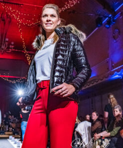 Zwarte jas -sportief model - pels