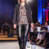 Zwarte legging - leather look