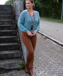 Bruine skinny - high waist