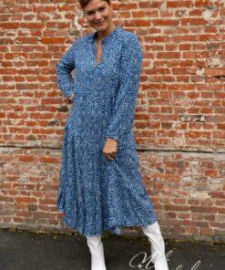 Blauw flower jurk