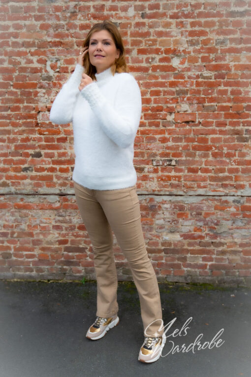 Camel flared jeans