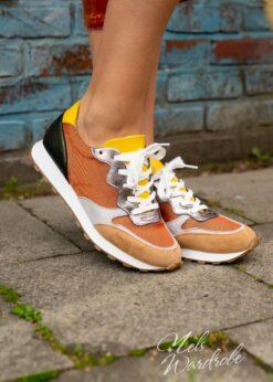 Sneaker orange green