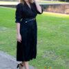 Zwarte jurk met riem