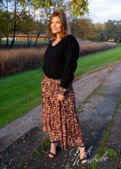 zwarte basic mohair trui