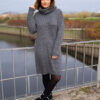 Lange grijze jurk