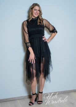 Zwarte jurk - kant - tule