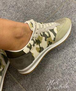 kaki sneaker - army detail