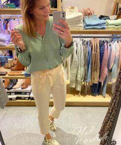 Basic blouse met ruches